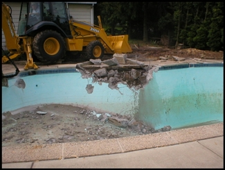sunnyvale pool removal and pool fill in